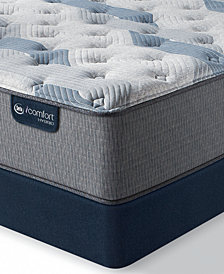 "iComfort by Serta Blue Fusion 100 12"" Hybrid Firm Mattress Set  - Queen"