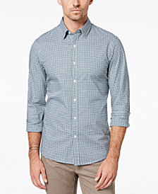 Michael Kors Men's Slim-Fit Trim Stretch Gingham Shirt