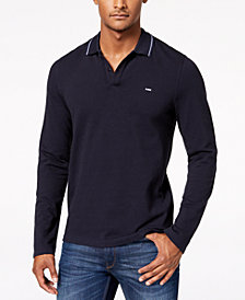 Michael Kors Men's Long-Sleeve Stretch Polo