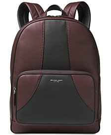 Michael Kors Men's Bryant Colorblocked Leather Backpack