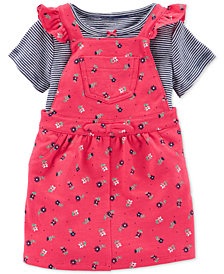 Carter's Baby Girls  2-Pc. Pink Floral Jumper Set