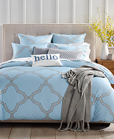 Charter Club Damask Designs Tile Geo 300-Thread Count 2-Pc. Twin Duvet Set, Created for Macy's