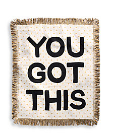 "Whim By Martha Stewart Collection You Got This 50"" x 60"" Throw, Created for Macy's"