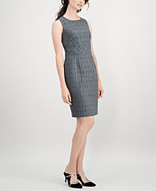 Kasper Petite Plaid Sheath Dress