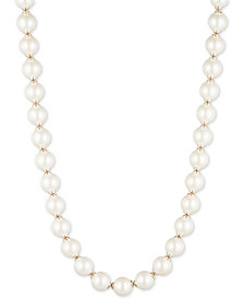 "Lauren Ralph Lauren Gold-Tone Imitation Pearl 17"" Strand Necklace"