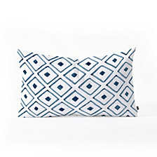 Deny Designs Social Proper Indigo Ascot Oblong Throw Pillow