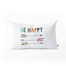 Deny Designs Chelcey Tate Be Happy Oblong Throw Pillow