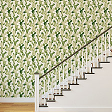 Genevieve Gorder for Tempaper Ghosted Cactus Self-Adhesive Wallpaper