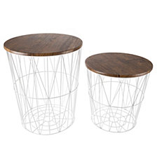 Nesting End Tables with Storage- Set of 2 by Lavish Home