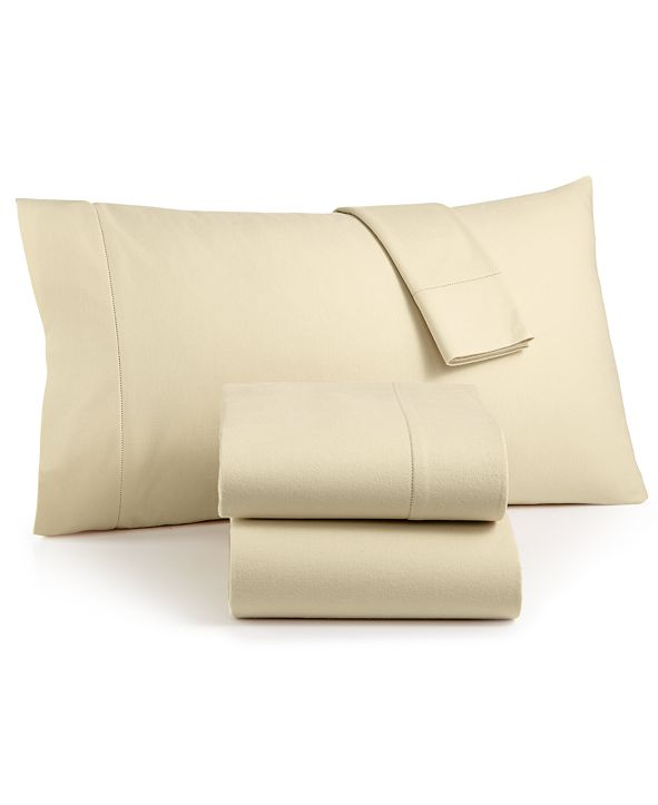 Martha Stewart Collection CLOSEOUT! Luxury 100% Cotton Flannel 4-Pc. Full Sheet Set, Created for Macy's
