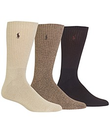Men's 3-Pk. Twisted Crew Casual Socks