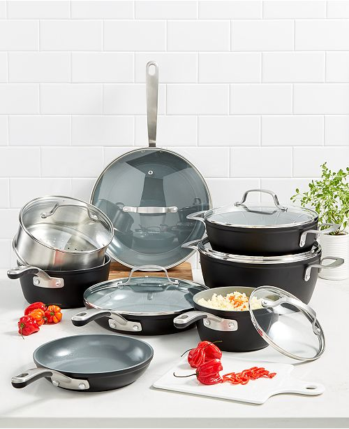 Martha Stewart Collection Culinary Science by Martha Stewart 14-Pc. Forged Aluminum Set, Created for Macy's