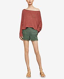 BCBGMAXAZRIA Long-Sleeve Asymmetrical Knit Sweater