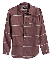 Univibe Big Boys Striped Collared Shirt