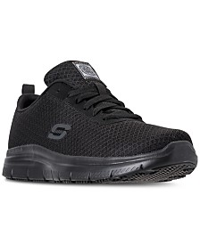 Skechers Men's Work Relaxed Fit: Flex Advantage - Bendon SR Slip Resistant Athletic Sneakers from Finish Line