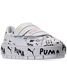 Puma Women's Platform Trace Leather Strap SM Casual Sneakers from Finish Line