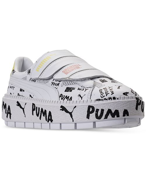 ... Puma Women s Platform Trace Leather Strap SM Casual Sneakers from  Finish ... 3f470a514