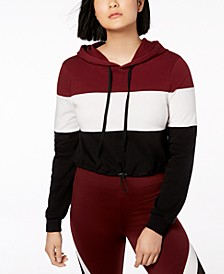 Juniors' Colorblocked Cropped Hoodie, Created for Macy's