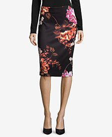 ECI Printed Pull-On Pencil Skirt