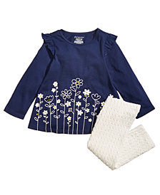 First Impressions Baby Girls Floral-Print Ruffle Tunic & Textured Leggings, Created for Macy's