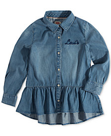 Levi's® Little Girls Peplum Shirt