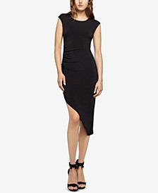 Asymmetrical Ruched Sheath Dress