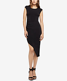 BCBGeneration Asymmetrical Ruched Sheath Dress