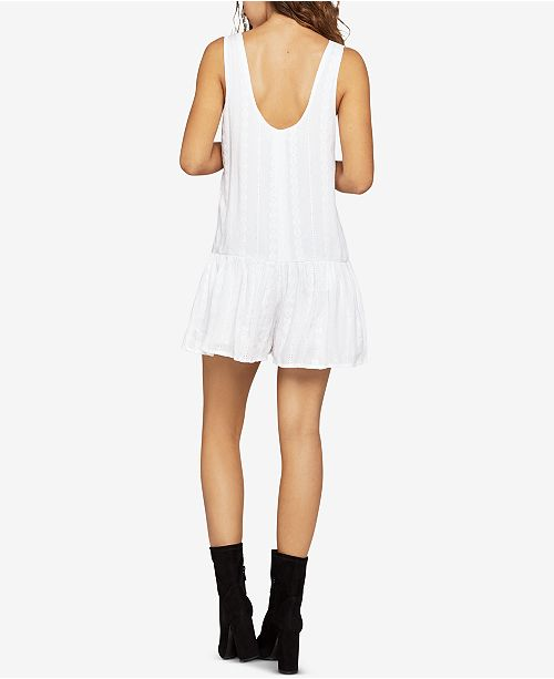 BCBGeneration Embroidered Waist WHIT OPTIC Drop Romper rwFOEqrU