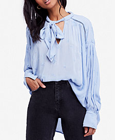 Free People Wishful Moments Tie-Front Top