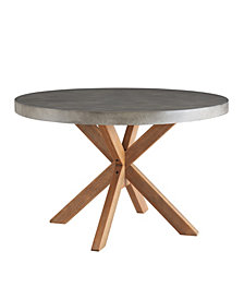 Maui Round Concrete Dining Table