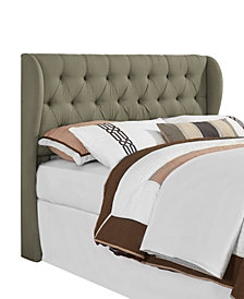 York Tufted Wing Headboard, King/California King, Grey