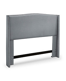Stamford Upholstered Wing Headboard, Full/Queen, Platinum
