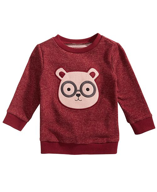 First Impressions Baby Boys Bear Face Crewneck Sweater, Created for Macy's