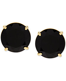 Onyx (9mm) Stud Earrings in 14k Gold