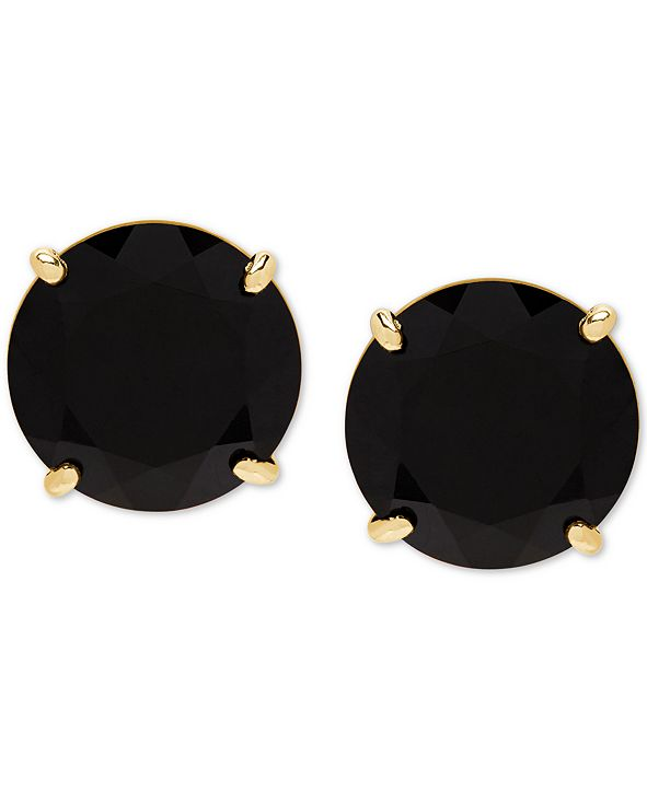 Honora Style Onyx (9mm) Stud Earrings in 14k Gold