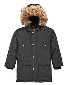 MICHAEL Michael Kors Toddler Boys Snorkel Hooded Coat with Faux-Fur Trim