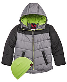 RM 1958 Little Boys Norris Colorblocked Hooded Jacket with Hat