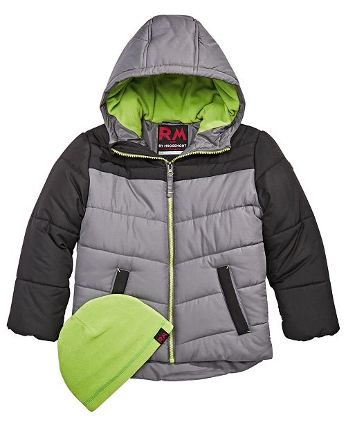 5030d6f65289 RM 1958 Toddler Boys Norris Colorblocked Hooded Jacket with Hat ...