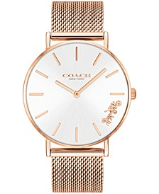 Women's Perry Created for Macy's Rose Gold-Tone Stainless Steel Mesh Bracelet Watch 36mm