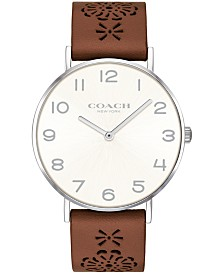 COACH Women's Perry Brown Leather Strap Watch 36mm Created for Macy's