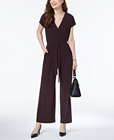 Alfani Petite Printed Wide-Leg Jumpsuit, Created for Macy's
