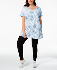 Ideology Plus Size Printed Tunic, Created for Macy's