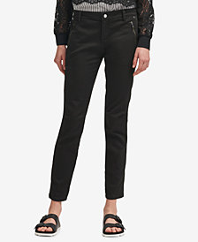 DKNY Zip-Pocket Skinny Chino Pants, Created for Macy's