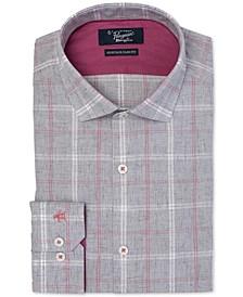 Men's Heritage Slim-Fit Comfort Stretch Brushed Plaid Dress Shirt