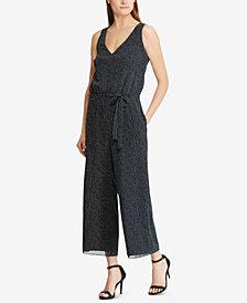Lauren Ralph Lauren Wide-Leg Polka-Dot Jumpsuit