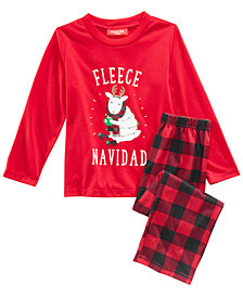 matching family pajamas fleece navidad pajama set available in toddlers and kids created for - Christmas Pjs Toddler