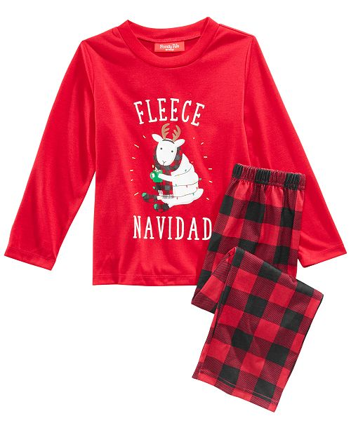 b4ba6cacb6 Family Pajamas Matching Fleece Navidad Pajama Set