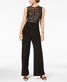 Nightway Embellished Lace Contrast Jumpsuit
