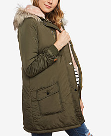 Jessica Simpson Maternity Hooded Coat