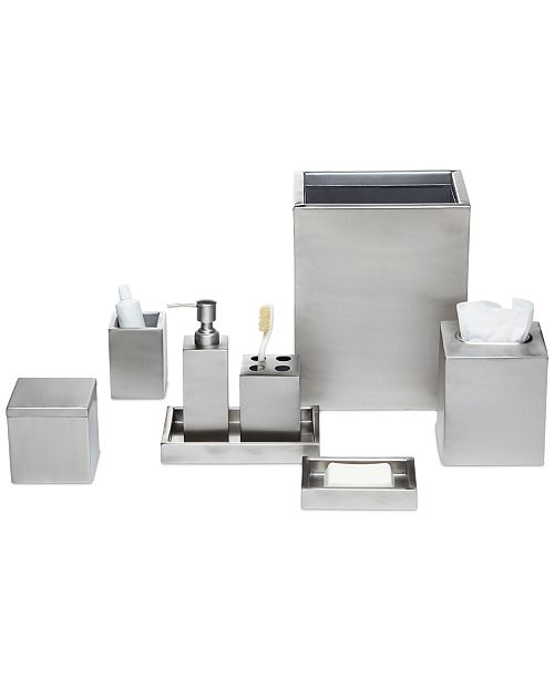 Roselli Trading Company Modern Bath Satin Accessories Collection